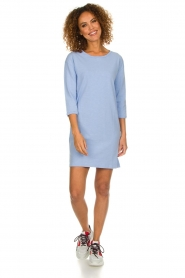 American Vintage |  Sweater dress Waterfall | blue  | Picture 3