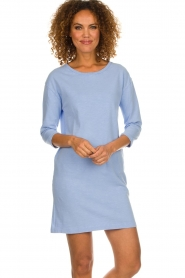 American Vintage |  Sweater dress Waterfall | blue  | Picture 2
