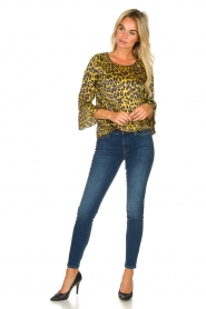 Kocca | Blouse with print Jean | yellow  | Picture 3