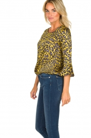 Kocca | Blouse with print Jean | yellow  | Picture 5