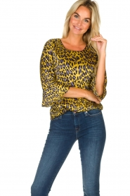 Kocca | Blouse with print Jean | yellow  | Picture 2