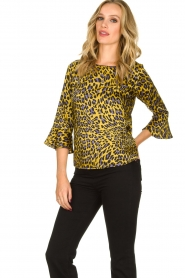 Kocca | Blouse with print Jean | yellow  | Picture 4