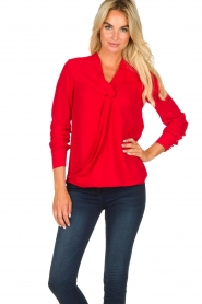 Kocca | Wrap blouse Tica | red  | Picture 2