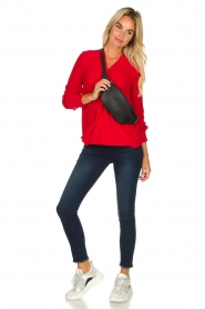 Kocca | Wrap blouse Tica | red  | Picture 3