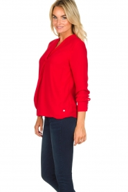 Kocca | Wrap blouse Tica | red  | Picture 4