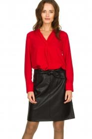 Kocca | Wrap blouse Tica | red  | Picture 2
