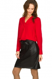 Kocca | Wrap blouse Tica | red  | Picture 5