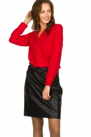 Kocca | Wrap blouse Tica | red  | Picture 4