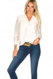 Kocca |  Wrap blouse Tica | natural  | Picture 4