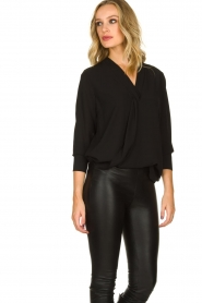 Kocca | Wrap Blouse Tica | black  | Picture 4