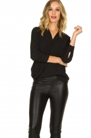 Kocca | Wrap Blouse Tica | black  | Picture 2