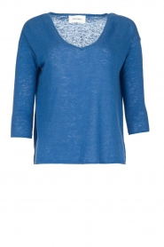 American Vintage | Linen top Avery | blue  | Picture 1