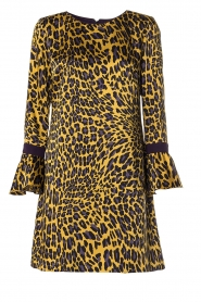 Kocca | Dress with print Ginseng | yellow  | Picture 1