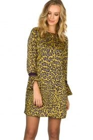 Kocca | Dress with print Ginseng | yellow  | Picture 2
