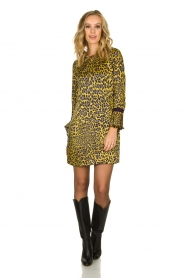Kocca | Dress with print Ginseng | yellow  | Picture 3