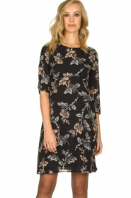 Kocca | Dress with print Fabius | black  | Picture 2
