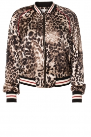 Kocca |  Jacket with leopard print Anny | animal print  | Picture 1