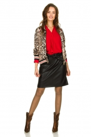 Kocca |  Jacket with leopard print Anny | animal print  | Picture 3