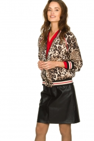 Kocca |  Jacket with leopard print Anny | animal print  | Picture 2