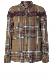 Kocca    Checkered blouse with lace Gennas   green    Picture 1