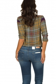 Kocca    Checkered blouse with lace Gennas   green    Picture 5