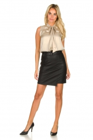 Kocca | Faux leather skirt Vida | black  | Picture 3