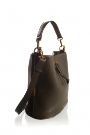 Smaak Amsterdam |  Leather bucket bag Fred | green  | Picture 4