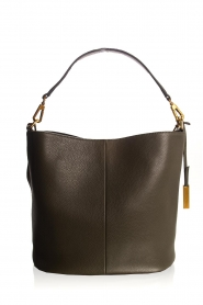 Smaak Amsterdam |  Leather bucket bag Fred | green  | Picture 5