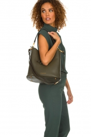 Smaak Amsterdam |  Leather bucket bag Fred | green  | Picture 3