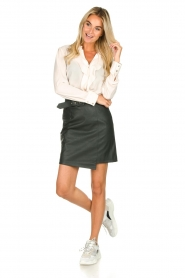 Kocca | Faux leather skirt Vida | green  | Picture 3