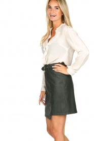 Kocca | Faux leather skirt Vida | green  | Picture 4