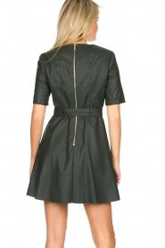 Kocca | Faux leather dress Nidra | green  | Picture 6