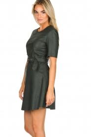 Kocca | Faux leather dress Nidra | green  | Picture 5