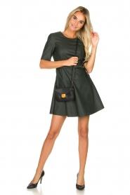 Kocca | Faux leather dress Nidra | green  | Picture 3