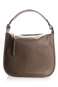 Smaak Amsterdam |  Leather shoulder bag Sanne | grey