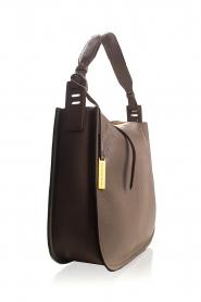 Smaak Amsterdam |  Leather shoulder bag Sanne | grey  | Picture 3