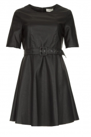 Kocca | Faux leather dress Nidra | black  | Picture 1