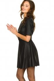 Kocca | Faux leather dress Nidra | black  | Picture 5