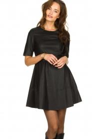 Kocca | Faux leather dress Nidra | black  | Picture 2