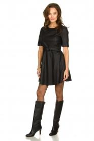 Kocca | Faux leather dress Nidra | black  | Picture 3