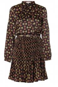 Kocca |  Dress with stirrups print Fubi | black  | Picture 1
