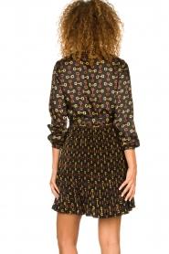 Kocca |  Dress with stirrups print Fubi | black  | Picture 5