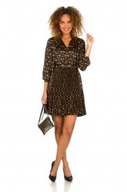 Kocca |  Dress with stirrups print Fubi | black  | Picture 3