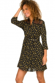 Kocca |  Foral dress Risto | black  | Picture 4