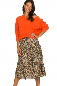 Lolly's Laundry |  Printed midi skirt Morning | multi  | Picture 2