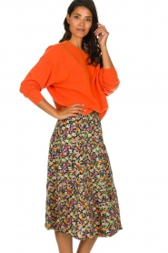 Lolly's Laundry |  Printed midi skirt Morning | multi  | Picture 5