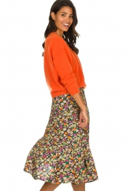 Lolly's Laundry |  Printed midi skirt Morning | multi  | Picture 4