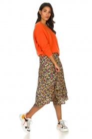 Lolly's Laundry |  Printed midi skirt Morning | multi  | Picture 3