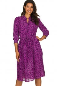 Lolly's Laundry |  Printed dress Sienna | purple  | Picture 2