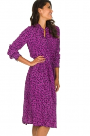 Lolly's Laundry |  Printed dress Sienna | purple  | Picture 5